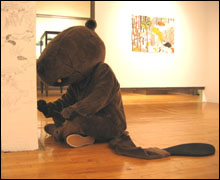 CUTE BRUT: Miyake says he doesn't intend his beaver to be a symbol for anything, and it's difficult not to believe him.