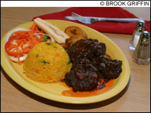 ALL FIRED UP: Flames II brings hearty Jamaican food to the medical district.