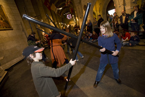 commune with warriors at Higgins Armory Museum