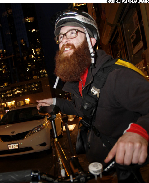 Liz Pelly interviews three  bike messengers about their work in Boston