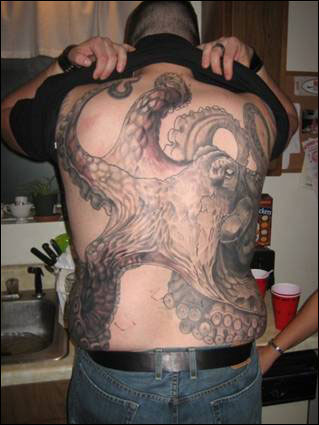 Octopus Tattoos on Best Tattoo  Octopus Design Tattoos