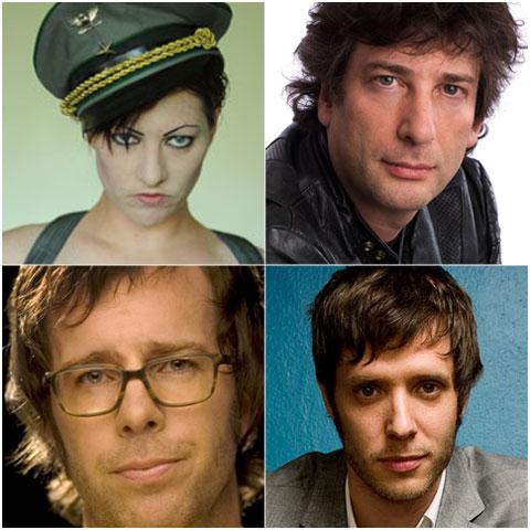 Amanda Palmer, Neil Gaiman, Damian Kulash, Ben Folds