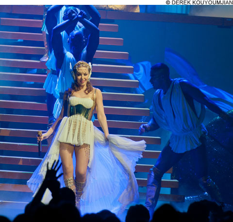 Kylie Minogue performs in Boston